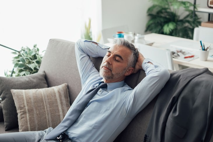 Hypertension Studies of 2019 man napping on the couch