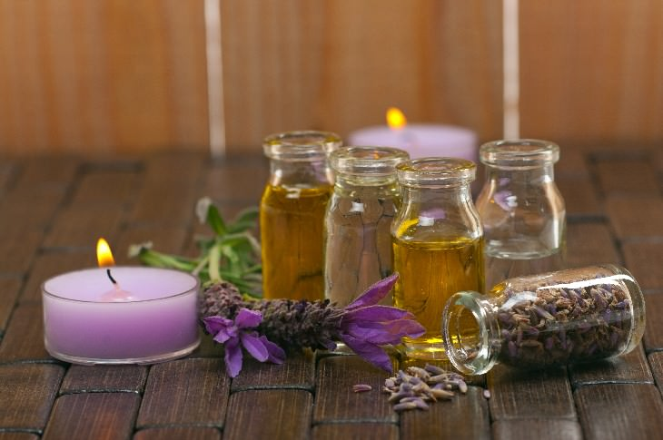 lower back remedies bottles of oils