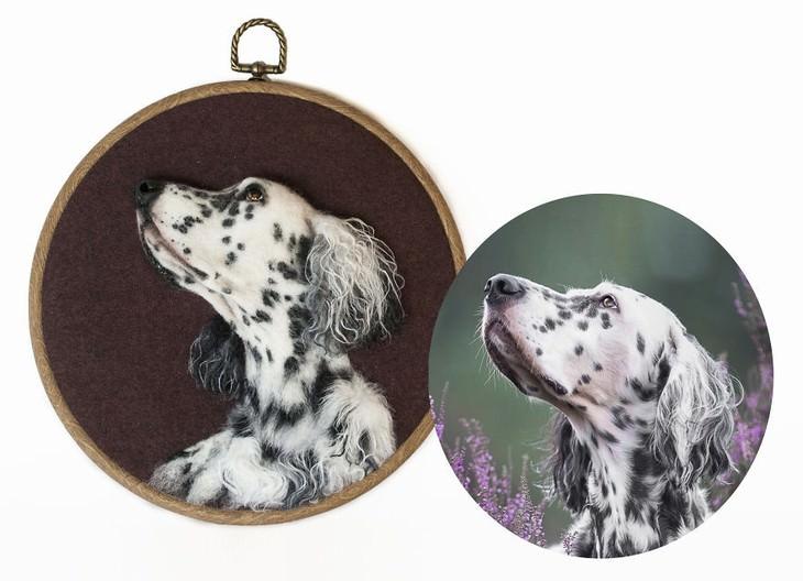 Felted Wool Portraits of Pets Hanna Tsukanova spaniel