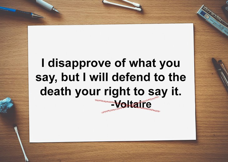 misattributed quotes voltaire