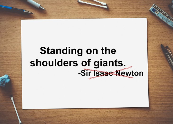 misattributed quotes isaac newton