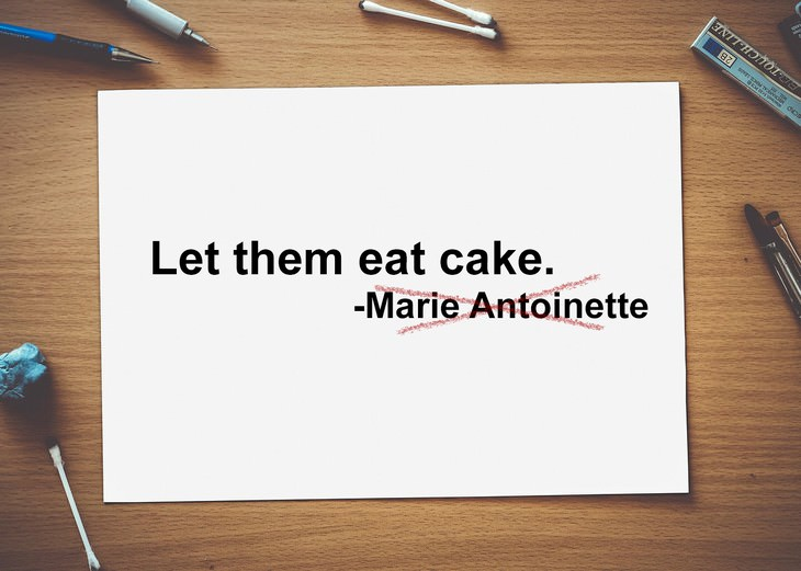 misattributed quotes marie antoinette