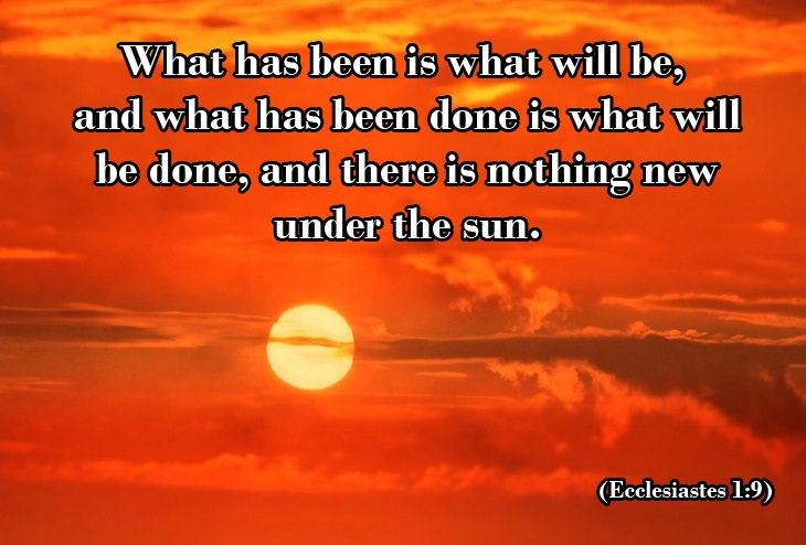 Quotes from Ecclesiastes: sunset