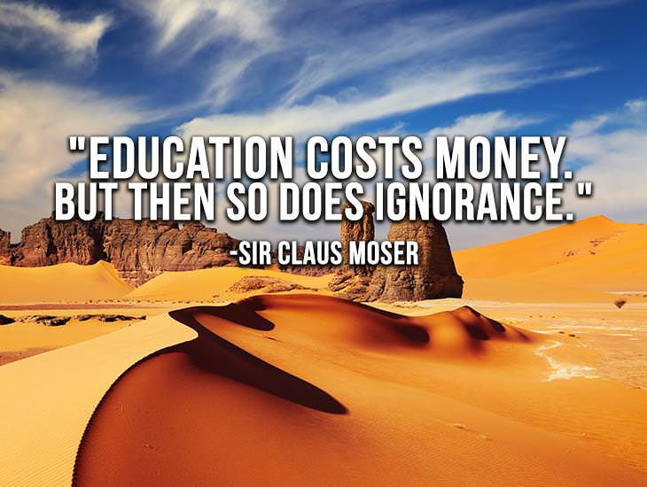 Education Costs Money, So Does Ignorance