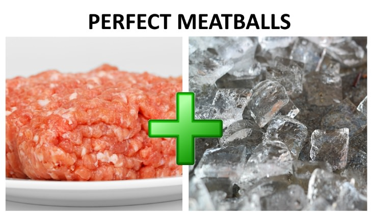 cooking tips meatballs ice