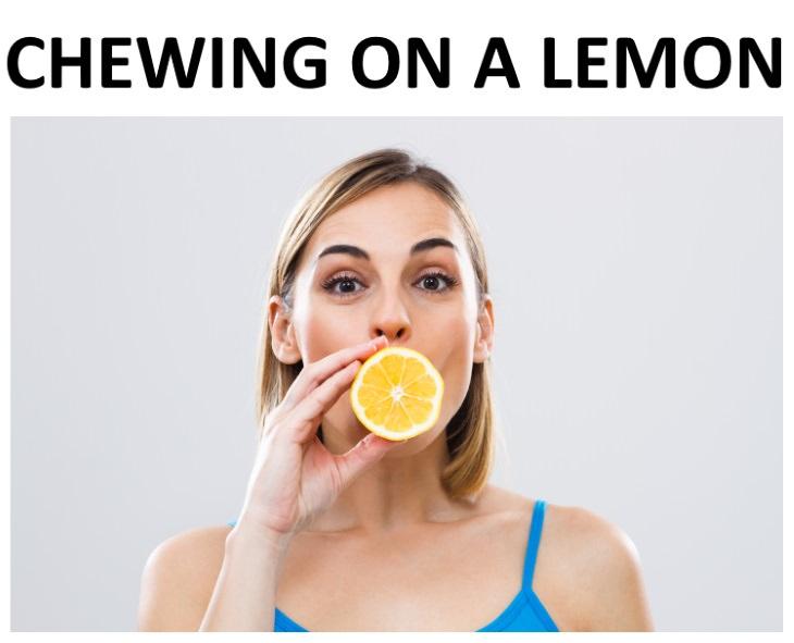 hiccup remedies lemon