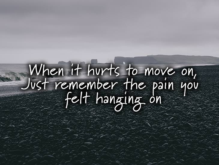 Just Remember The Pain You Felt Hanging On