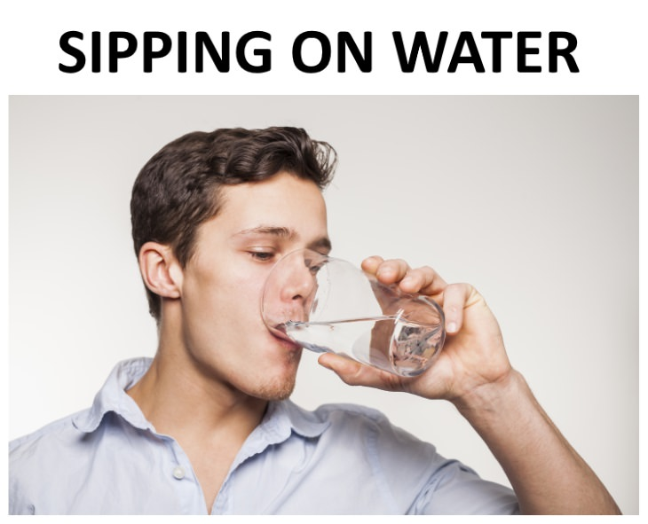 hiccup remedies sipping on water