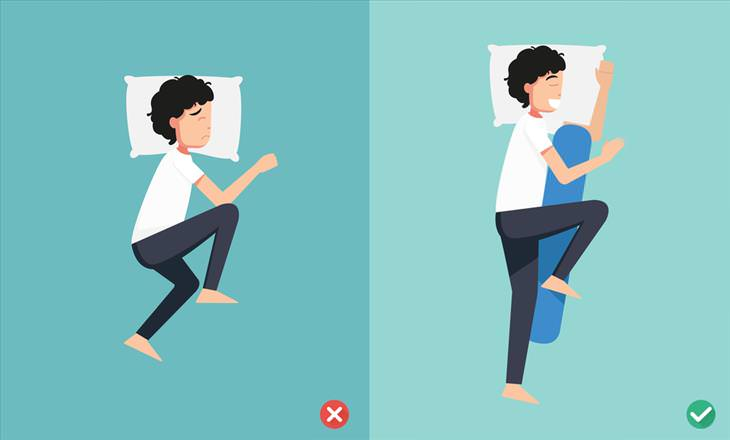 sleeping positions sleeping on the left side