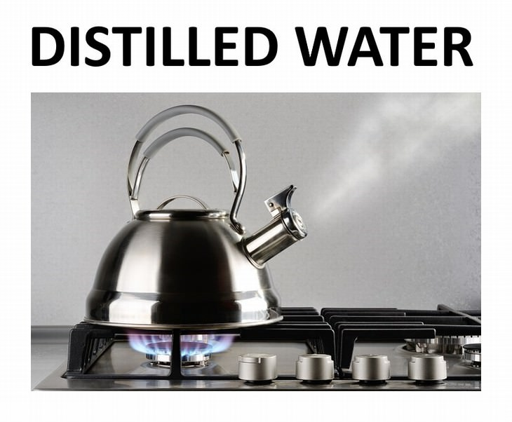 9 types of water Distilled Water