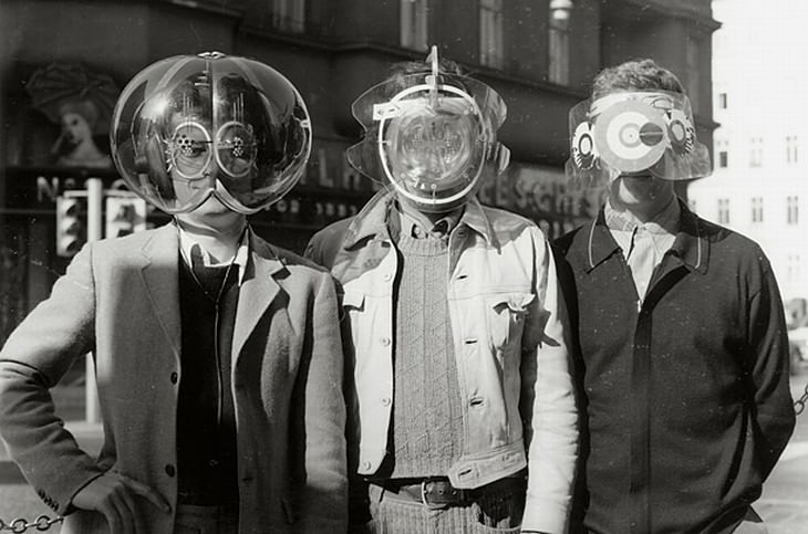 vintage photos Futuristic Head Pieces