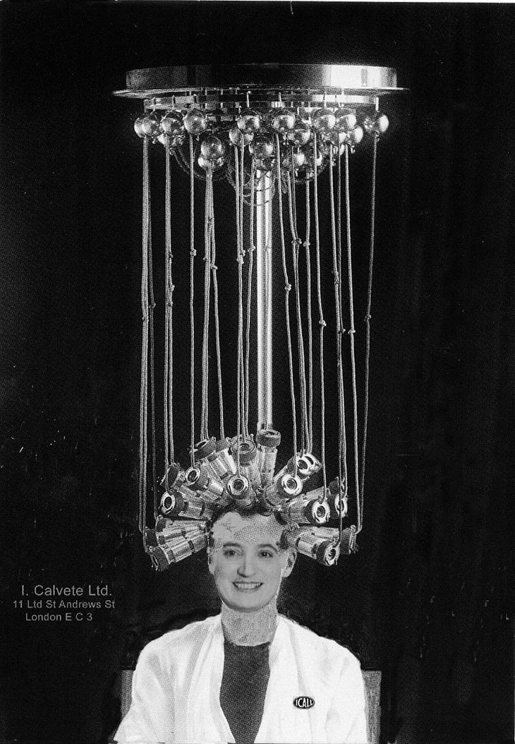 vintage photos A Permanent Wave Machine by Icall (1923)