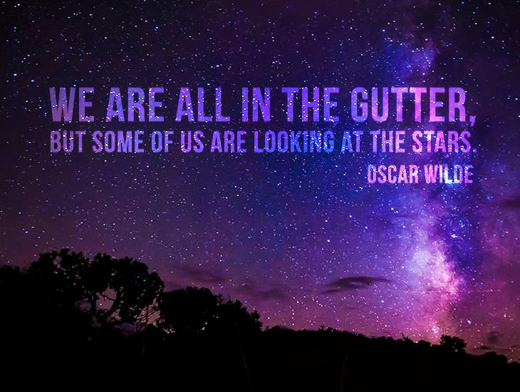 Some Of Us Are Looking At The Stars