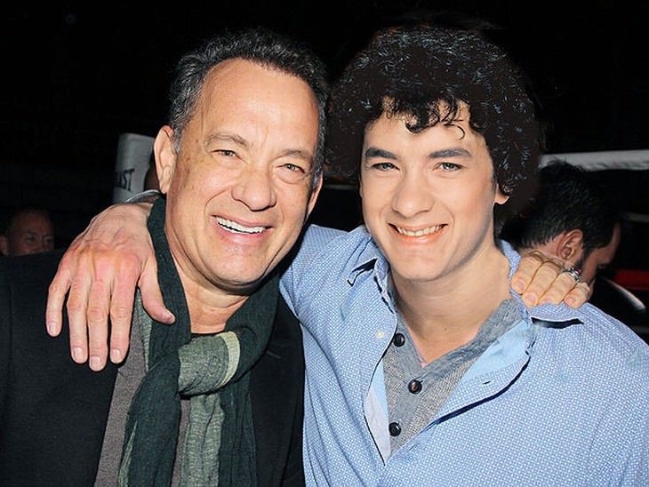 celebrities and their younger selves Tom Hanks