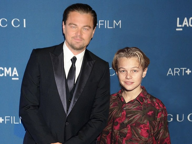 celebrities and their younger selves LeonardoDicaprio.