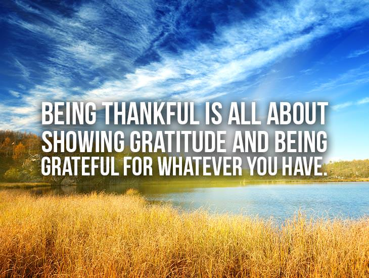 What Being Thankful Is All About