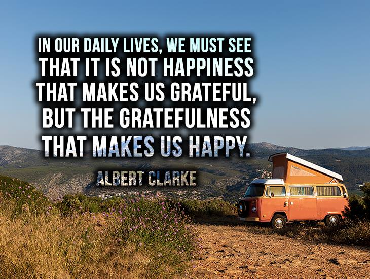 It Is Not Happiness That Makes Us Grateful