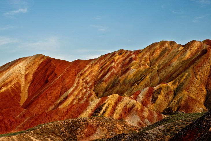 colorful places  Zhangye National Geopark