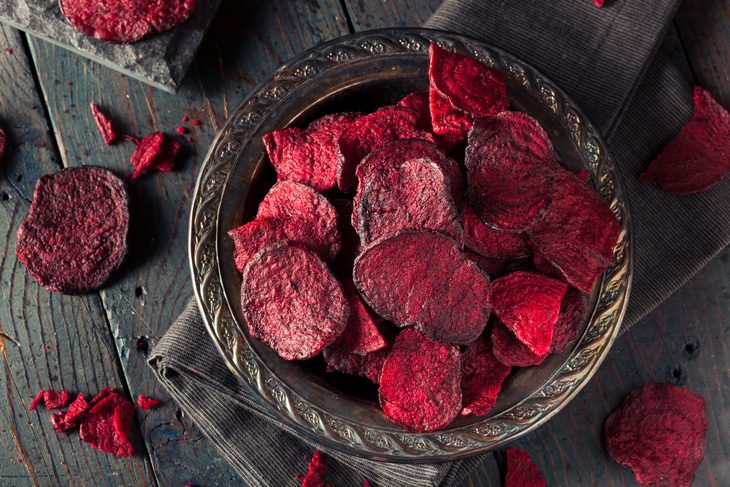 Beet recipes: chips