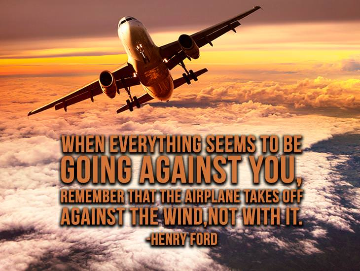Remember That The Airplane Takes Off Against The Wind