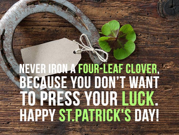 Never Iron A Four-Leaf Clover