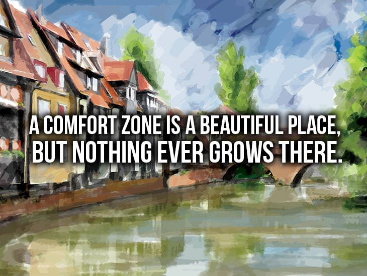 A Comfort Zone Is A Beautiful Place