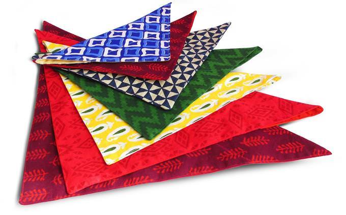test yourself: different colored bandannas