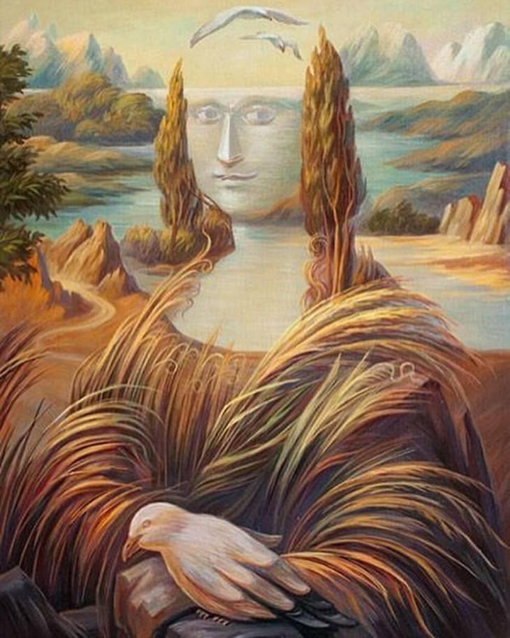 "optical illusions Oleg Shuplyak Leonardo Da Vinci ""Mona Lisa"""