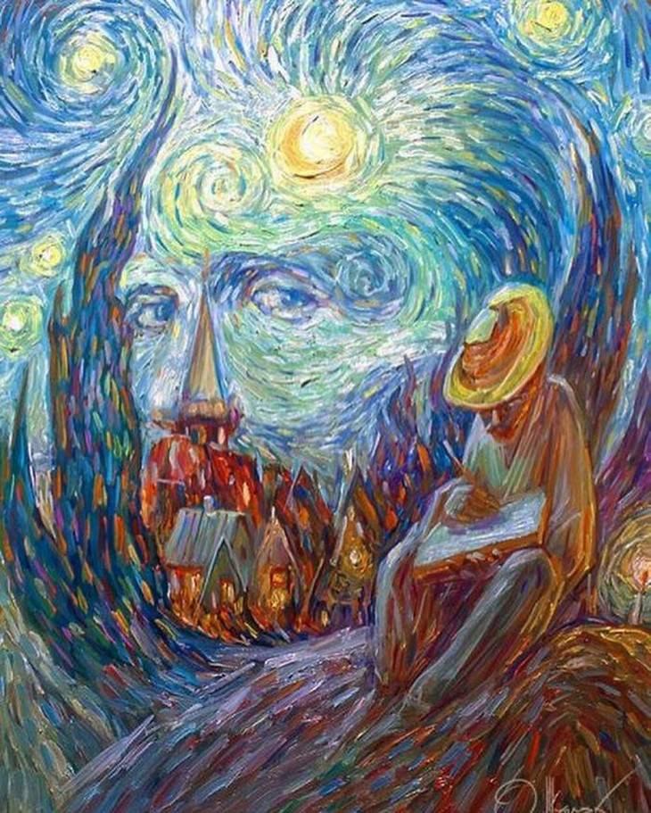 optical illusions Oleg Shuplyak Loving Vincent