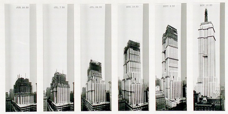 construction of famous buildings The Empire State Building