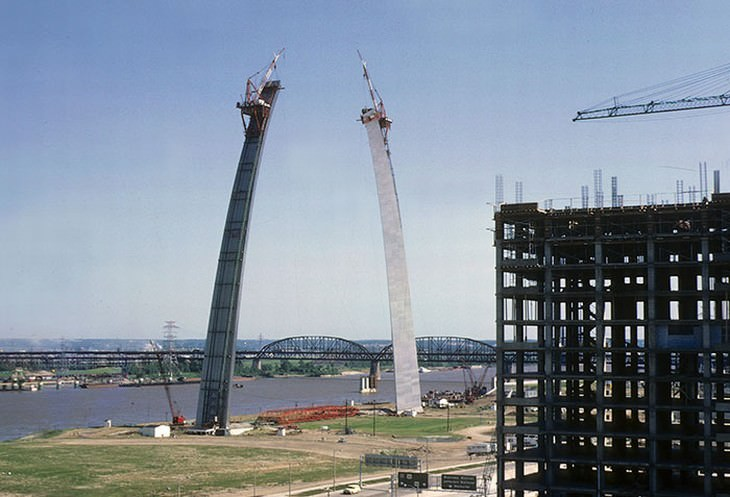 construction of famous buildings The Gateway Arch