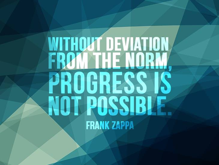 Without Deviation From The Norm