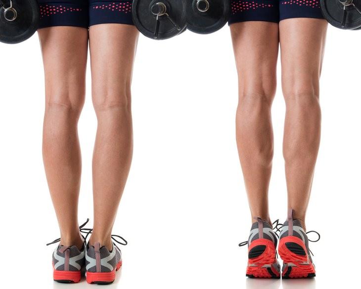 Calf exercises: standing calf raise