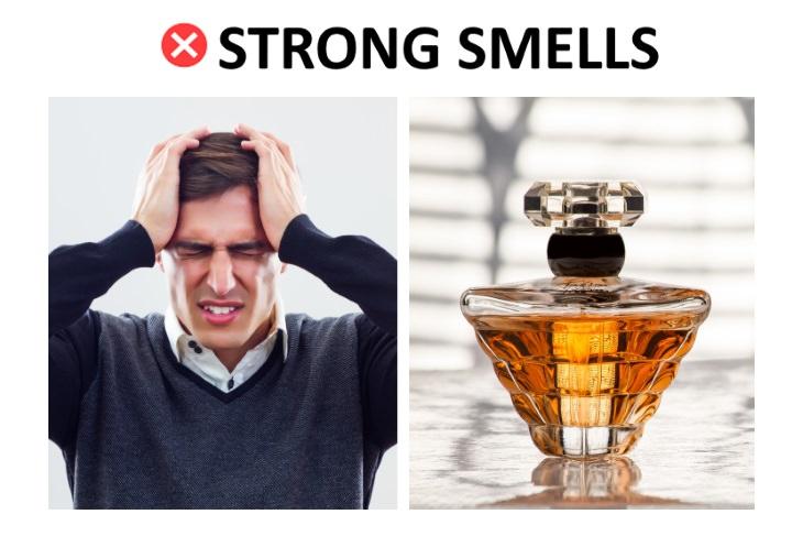 headache remedies strong smells