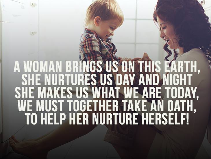 We Must Together Take An Oath, To Help Her Nurture Herself!