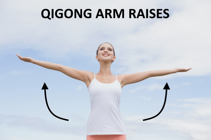 liver exercises Arm Raises In Sync With Breathing