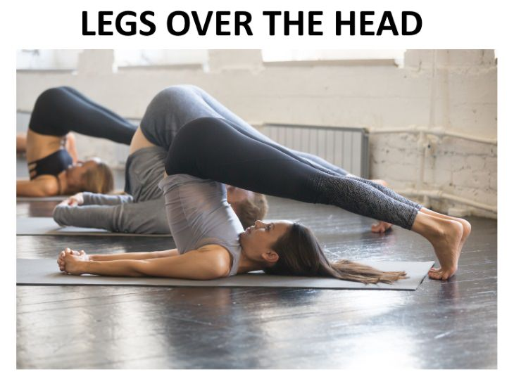 liver exercises Lift Your Legs Over the Head (Plow Pose)