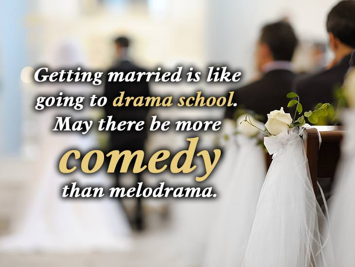 Getting Married Is Like Going To Drama School