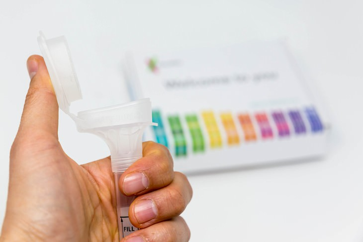 home DNA tests tube