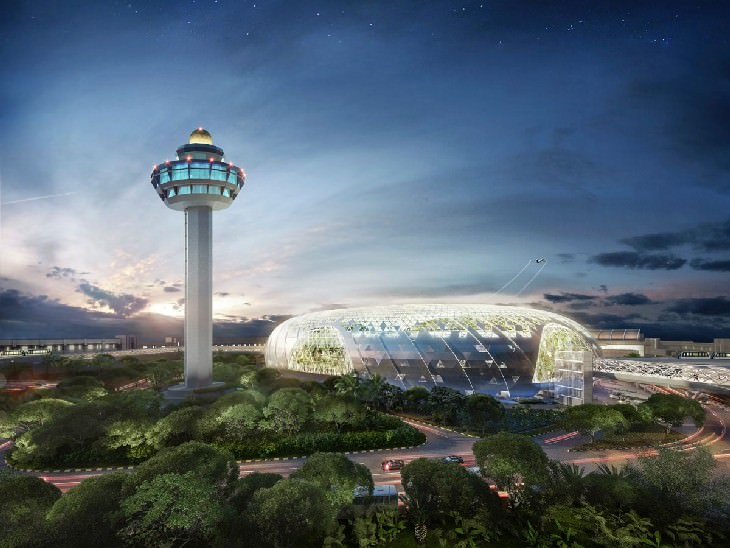 Jewel Changi Airport view from afar