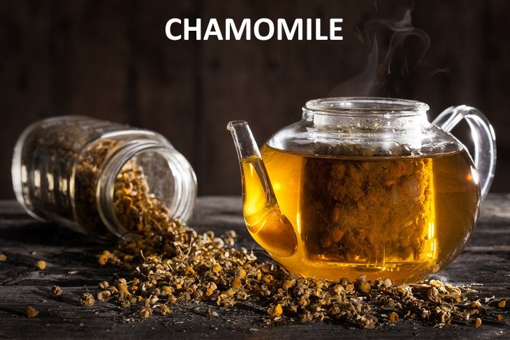 herbal teas that relieve bloating Chamomile (Chamomillae romanae)
