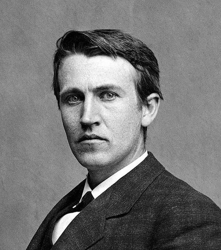 attractive historical figures Thomas Edison (1877)