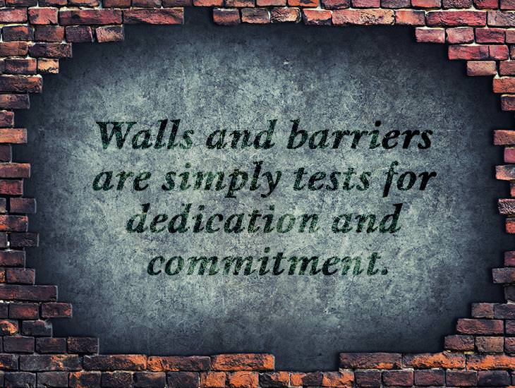 Walls and Barriers Are Simply Tests