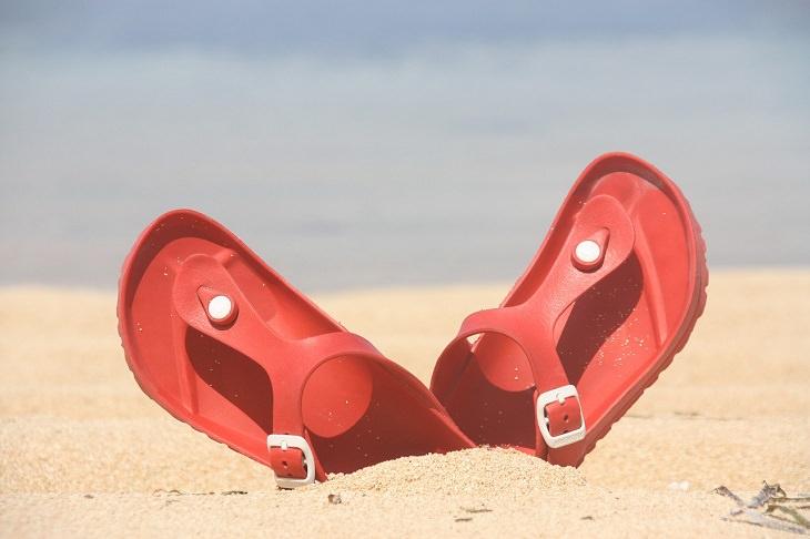 summer footwear flip flops