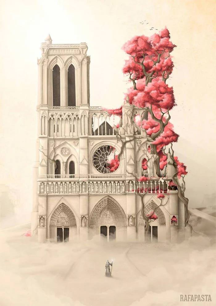 notre-dame artist painting