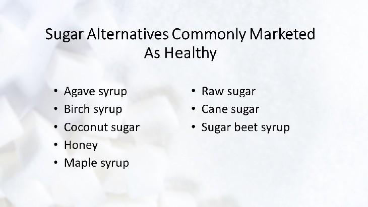 sugar marketing healthy