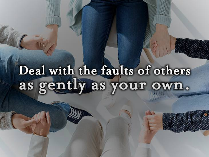 Deal With The Faults Of Others