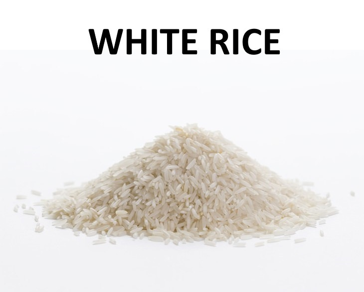 the different kinds of rice white rice