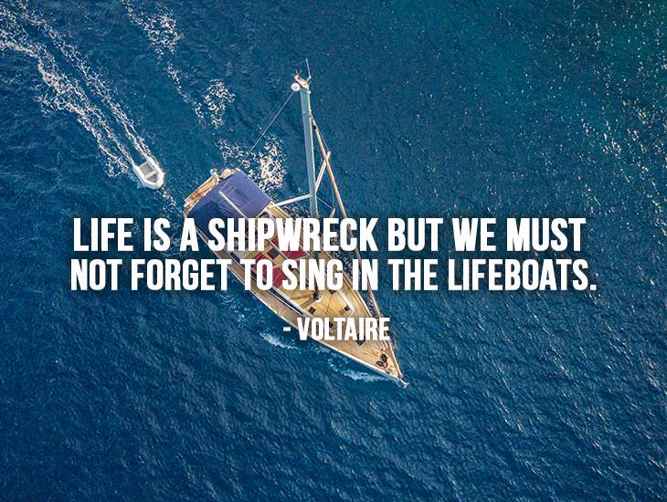 We Must Not Forget To Sing In The Lifeboats