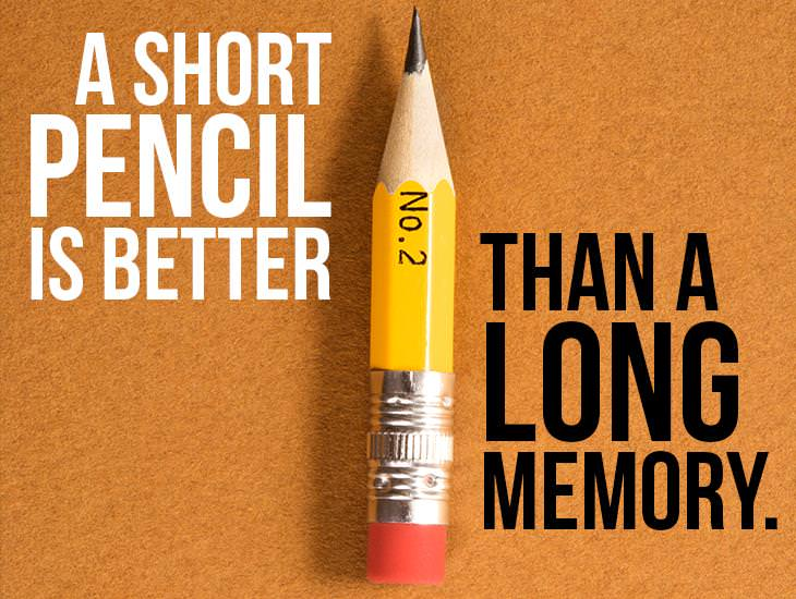 A Short Pencil Is Better